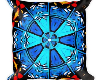 Abstract Mandala - Throw Pillow