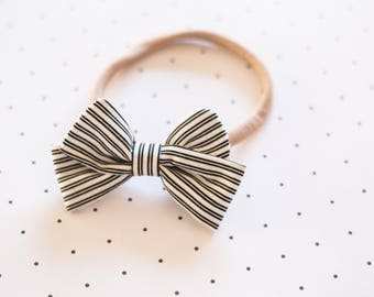 Scarlet Striped Bow