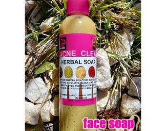 Acne face wash and scrub