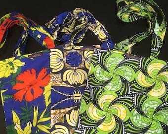 Shopping bag, tote bag - african chitengi fabric