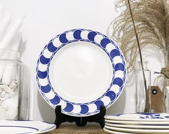1 plate Digoin Sarreguemines model Dorothy diameter: 22.5 cm