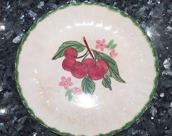 Blue Ridge Southern Potteries Inc Set of 5 plates fruit pattern