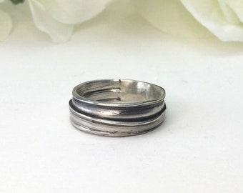 Wedding Ring, Sterling Silver, mitsuro, nature ring, organic ring, orokoro