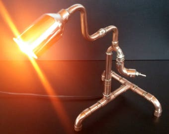 Copper lamp-Designer lamp-Steampunk lamp