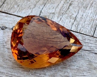 90.40 Carates Very Beautiful Faceted Brown Color Topaz With Beautiful Luster From Pakistan.