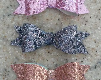 3 inch glitter bows