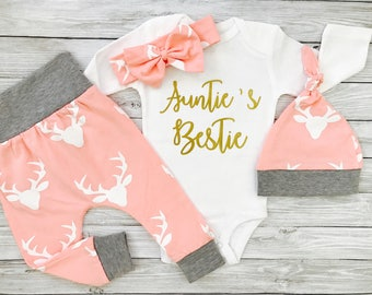 Baby Girl Clothes, Baby Niece Gift, Aunt Baby Clothes, Baby Girl Gift, Aunt Shirt, Aunties Bestie, Aunt Gift, Aunt and Niece, Gift for Niece