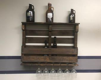 Handmade Rustic Wine Rack wine bottle