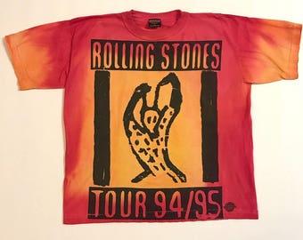 Vintage Rolling Stones T Shirt 94/95 Voodoo Lounge World Tour - Men's XL