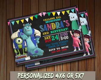 Monsters Inc invitation,Monsters Inc Birthday Invitation,Monsters Inc Party,Monsters Inc Invite,Birthday Invitation,Monsters Inc