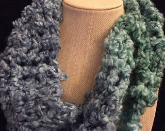 SeaGlass Stripes Mobius Cowl
