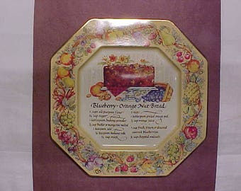 Avon Hospitality Sweets Recipe Plate, Blueberry-Orange Nut Bread, wall decoration