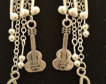 Musical instrument earrings