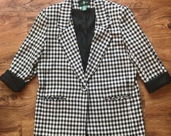 Vintage Houndstooth Hunt Club Blazer