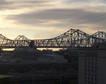 Bridge across the Mississippi River in New Orleans