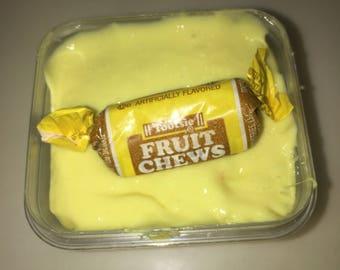 Banana fruit chew