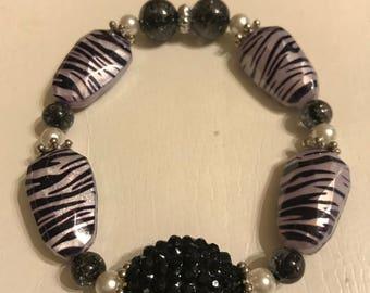Zebra print bracelet