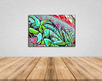GM 9 - Streets To Canvas - Custom Graffiti Name Sign, Graffiti Art Canvas Print, Personalized Canvas Wall Art, Abstract Graffiti Canvas