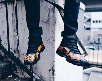 "Air Jordan 11 Black ""Rococo Print Pattern"""