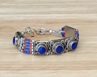 Lapis Beaded Bracelet