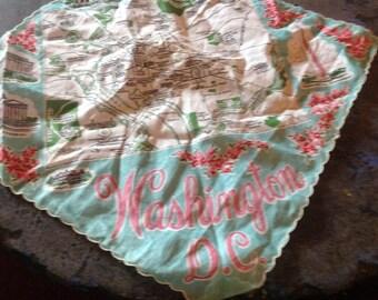 Washington Souvenier Handkerchief