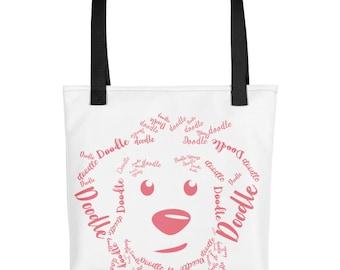 Pink (Blush) Doodle - Tote bag Golden Doodle / LabraDoodle / GoldenDoodle / Bernedoodle