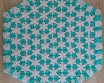 knitted handmade washcloth