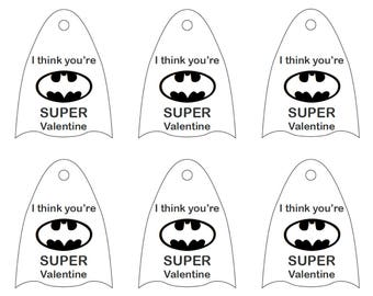 Batman Valentine Lollipop Capes  **printable**