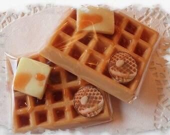 Waffle soap bars