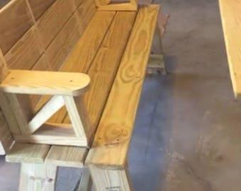 Flip top bench/table combo
