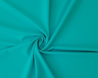 """Spandex Fabric, Turquoise 4Way Stretch Lycra Knit Spandex By The Yard 58"""" Wide, Swimsuit Fabric Swimwear Fabric Cosplay Fabric Matte Tricot"""