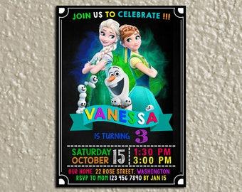 Frozen Birthday Invitation, Frozen Birthday, Frozen Invitation, Frozen Party, Frozen Birthday Party, Frozen Printable, Frozen Invite