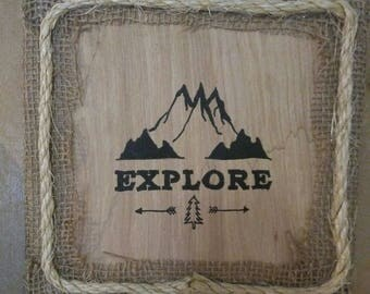 Explore Adventurer Wall Art, Reclaimed Wood