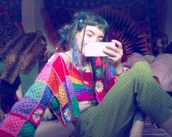 Patchwork crochet cardigan