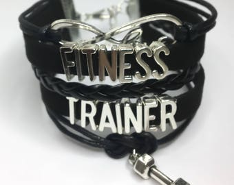 Fitness Trainer Bracelet, Layered Bracelet, Fitness Gifts, Fitness Jewelry, Gift Ideas, Fitness Bracelet