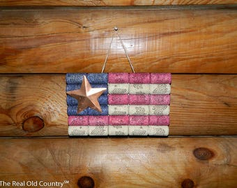 Wine Cork, Wine Cork American Flag, Wine, Wall Decor, US, USA, Patriotic, Patriotism, Flag, Gift