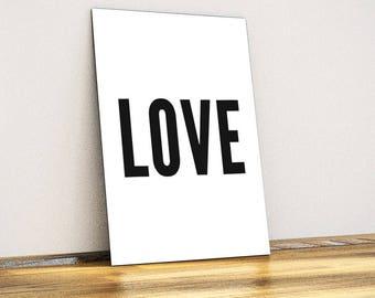Love Typographic Metal Wall Art - Wall Decor - Home Decor
