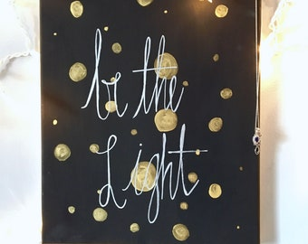 Be the Light Canvas painting