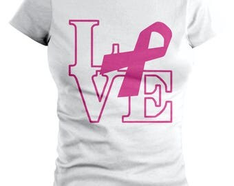 Love Statue Breast Cancer T-shirt