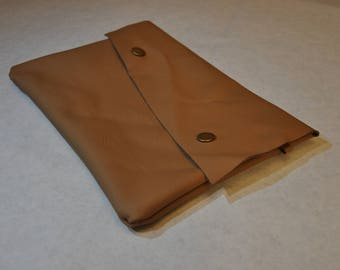 Tan Asymmetric Clutch Bag