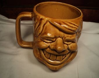 Vintage President Jimmy Carter 3 dimensional Caricature ceramic mug