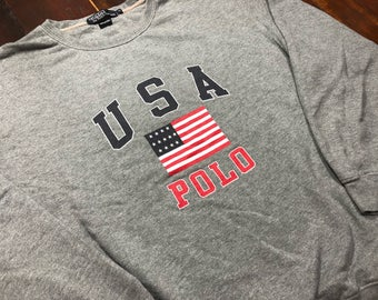 Vintage 90s Polo USA Ralph lauren Sweater size M