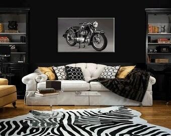 BMW R25 Motorcycle 36 x 24 Ris Res Canvas Art Print Wall Art