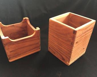 Cedar Desk Set