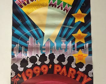 Hawkwind: The 1999 Party—tour poster (1975).  Rare Original Vintage Music Poster
