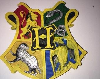 3D Printed Hogwarts Crest Magnet