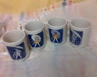 Vintage Morton Salt Girl Collector Coffee Mugs