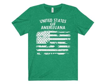 United States of Amerijuana - Jersey Short Sleeve Tee