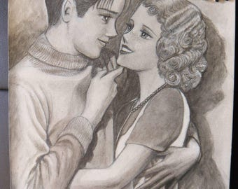 1920's couple manga style