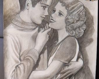 1920's couple manga style (original artwork)